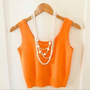 {St. John} Orange Knit Top